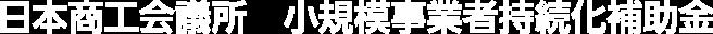 日本商工会議所 小規模事業者持続化補助金